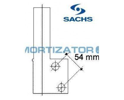 Амортизатор SACHS 170124, RENAULT CLIO I (B/C57_, 5/357_), передний, масляный