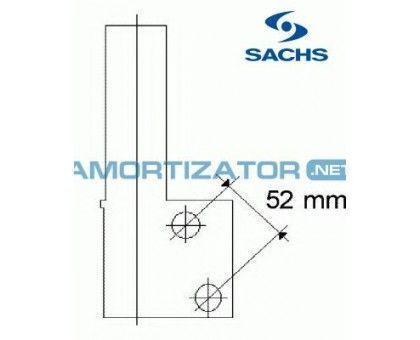 Амортизатор SACHS 170155, RENAULT CLIO I (B/C57_, 5/357_), передний, газомасляный