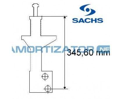 Амортизатор SACHS 170381, VW PASSAT (3A2, 35I), VW PASSAT Variant (3A5, 35I), передний, масляный