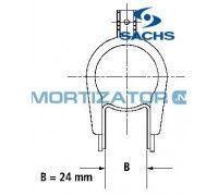 Амортизатор SACHS 200054, RENAULT LAGUNA I (B56_, 556_), передний, масляный