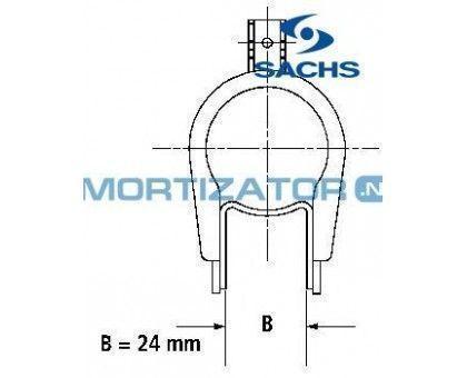 Амортизатор SACHS 200055, RENAULT LAGUNA I (B56_, 556_), передний, газомасляный