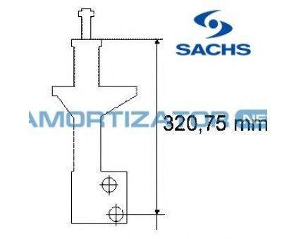 Амортизатор SACHS 230313, VW PASSAT (3A2, 35I), VW PASSAT Variant (3A5, 35I), передний, масляный